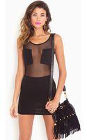 Nasty Gal Imagination Mesh Dress - Black - Lyst