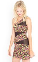Nasty Gal Electric Garden Dress - Lyst