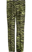 Michael Kors Zebra-striped Wool and Silk-blend Pants - Lyst