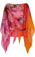 Roberto Cavalli Printed Silk-chiffon Kaftan - Lyst