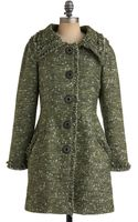 ModCloth Leaf Collection Coat - Lyst