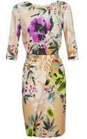 Etro Floral Printed Crepe Dress - Lyst