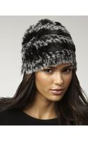 Marc By Marc Jacobs Hayworth Striped Fur Hat - Lyst