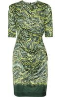 Peter Pilotto Side Printed Silk-jersey Dress - Lyst