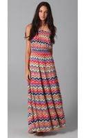 T-bags Print Maxi Dress - Lyst