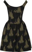 Vivienne Westwood Anglomania Pannier Printed Cotton Dress - Lyst