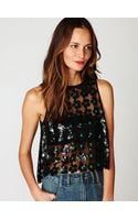 Free People New Romantics Daisy Sequin Tank - Lyst