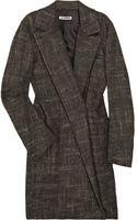 Jil Sander Tweed Coat - Lyst