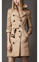 Burberry Check Undercollar Trench Coat - Lyst