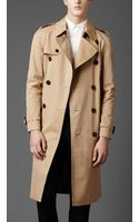 Burberry Heritage Double Breasted Raglan Trench Coat - Lyst