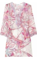 Emilio Pucci Printed Cotton and Silk-blend Kaftan - Lyst
