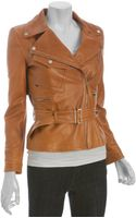 Gucci  Leather Belted Motorcycle Jacket - Lyst