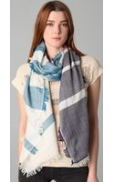 Tory Burch Striped Scarf - Lyst