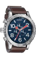 Nixon The 51-30 Chrono Leather Watch - Lyst