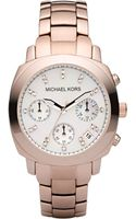 Michael by Michael Kors Michael Kors Chronograph Rose Gold Bracelet Watch - Lyst