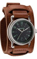 Nixon The Axe Leather Cuff Watch - Lyst