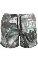 Christopher Kane Torque Printed Swim Shorts - Lyst