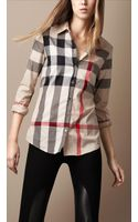 Burberry Brit Tonal Check Shirt - Lyst