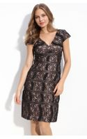 Js Collections Cap Sleeve Lace Sheath Dress - Lyst