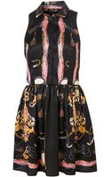 Topshop Scarf Print Shirt Dress - Lyst