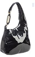 Jimmy Choo Black Patent Leather Thelma Hobo - Lyst