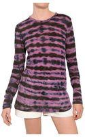 Proenza Schouler Tie Dye Cotton Jersey Top - Lyst