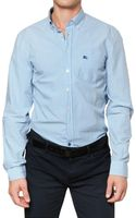 Burberry Brit Cotton Poplin Vichy Shirt - Lyst