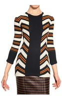 Burberry Prorsum Striped Intarsia Knit Sweater - Lyst