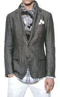 Dolce & Gabbana Slub Linen Jacket - Lyst