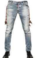 DSquared2 19cm Destroyed Denim Slim Fit Jeans - Lyst