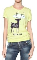 DSquared2 Printed Linnen Cotton Jersey T-shirt - Lyst