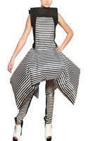 Gareth Pugh Inflatable Stripey Nylon Dress - Lyst