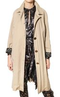 Lanvin Washed Techno Cotton Gabardine Trench Coat - Lyst