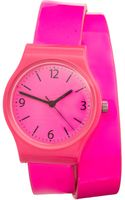 ASOS Collection Asos Neon Pink Double Strap Watch - Lyst