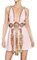 Fausto Puglisi Embroidered Wool Crepe Dress - Lyst