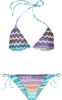 Missoni Cabras Reversible Crochet-Knit Triangle Bikini - Lyst