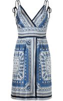 Philosophy di Alberta Ferretti Blue Nautical Print Dress - Lyst