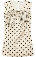 Sonia By Sonia Rykiel Bow-embellished Cotton-blend Polka-dot Top - Lyst