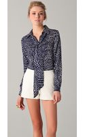 Tibi Blouse Polka Dot Tie Neck - Lyst