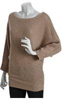 Alice + Olivia Wool Blend Winter Dolman Boat Neck Sweater - Lyst