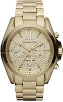 Michael Kors Mid-size Bradshaw Chronograph Watch, Golden - Lyst