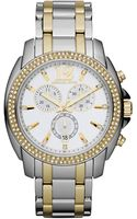 Michael Kors Mid-size Cameron Chronograph Glitz Watch, Silver-color/golden - Lyst