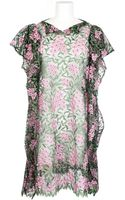 Junya Watanabe Dress in Transparent Tulle Embroidered with Flowers - Lyst