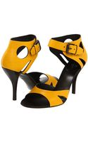 Bottega Veneta Leather Sandal Heels - Lyst