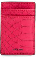 Mango Animal Texture Credit Card Holder - Lyst