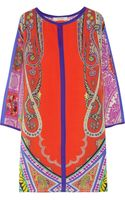 Etro Paisley-print Silk Dress - Lyst