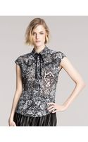 McQ by Alexander McQueen Rockabilly Printed Top - Lyst
