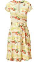 Issa Sand Tie-waist Silk Jersey Dress - Lyst