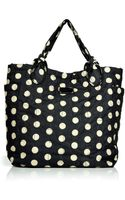 Marc By Marc Jacobs Black And Cream Dots Tote - Lyst