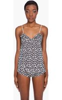 3.1 Phillip Lim Leopard Print Ruffle Camisole - Lyst